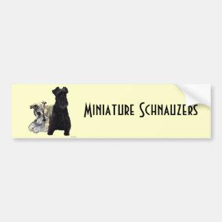 Miniature Schnauzers - Bumper Sticker