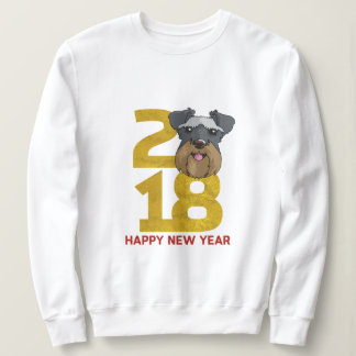 Miniature Schnauzers Year of the Dog 2018 New Year Sweatshirt