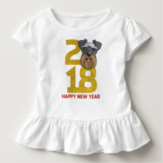 Miniature Schnauzers Year of the Dog 2018 New Year Toddler T-shirt