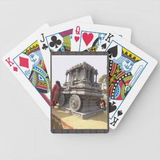 Miniature statues stone craft temples of india bicycle playing cards