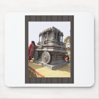 Miniature statues stone craft temples of india mouse pad