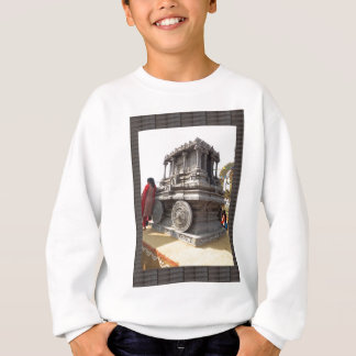 Miniature statues stone craft temples of india sweatshirt