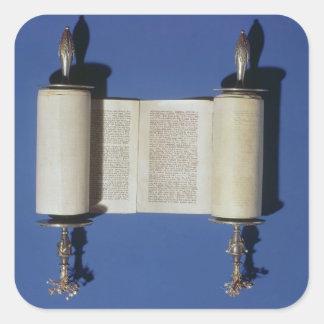 Miniature Torah Scroll, 1765 Square Sticker