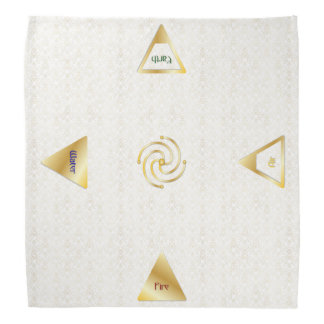 Miniature Traveling Altar Cloth & 5 Elementals Bandana
