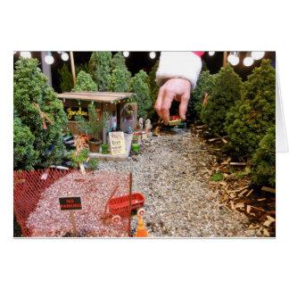 Miniature Tree Lot, Blank Card