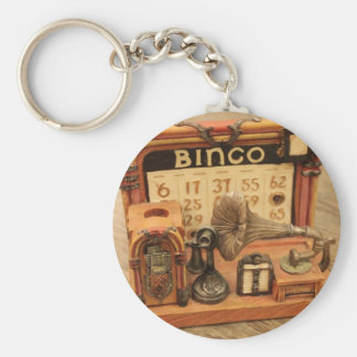 miniature vintage gramophone keychain