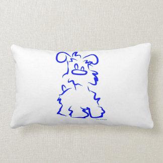 Miniature White Schnauzer Lumbar Pillow
