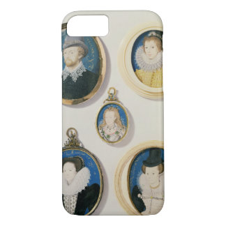 Miniatures, from L to R, T to B: Man with a Hand f iPhone 7 Case