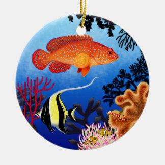 Miniatus Grouper Coral Reef Ornament