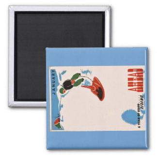 MiniBob Winter Square Magnet