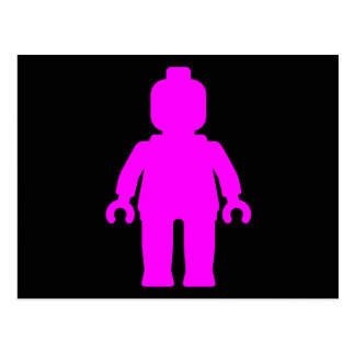 Minifig [Dark Pink] by Customize My Minifig Postcard