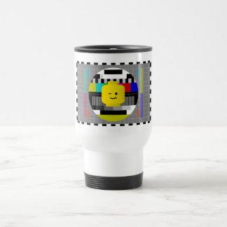 Minifig Head TV Test Transmission Travel Mug