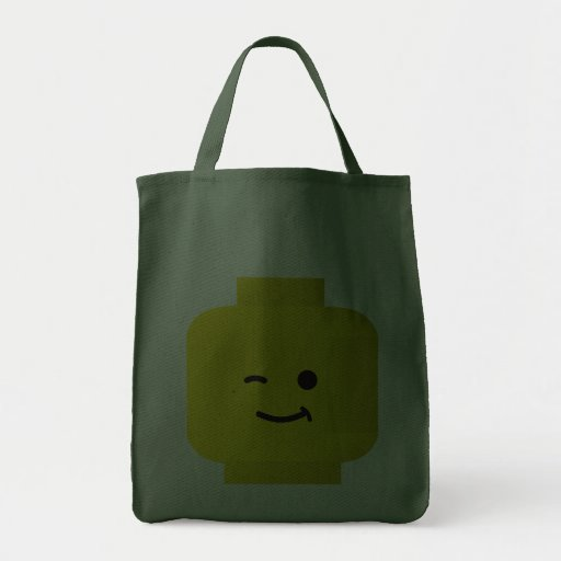 Minifig Winking Head Bags
