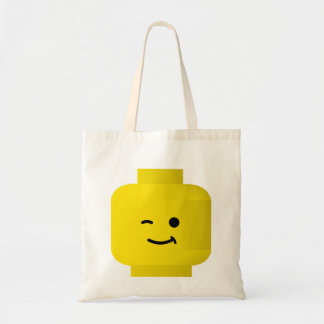 Minifig Winking Head Budget Tote Bag