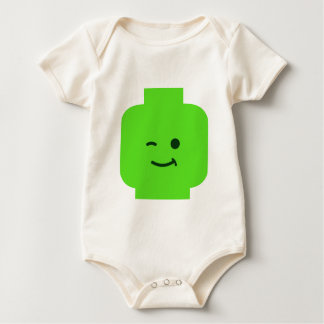 Minifig Winking Head by Customize My Minifig Baby Bodysuit