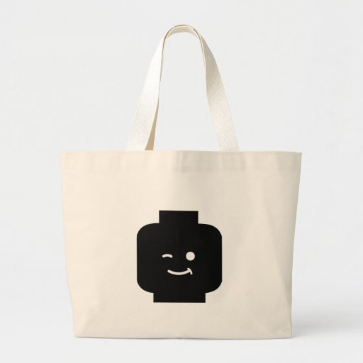 Minifig Winking Head by Customize My Minifig Canvas Bag