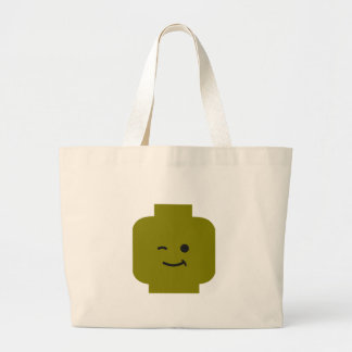 Minifig Winking Head by Customize My Minifig Jumbo Tote Bag