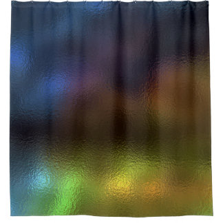 Minimal Abstract Art Glass Mint Navy Purple Mustar