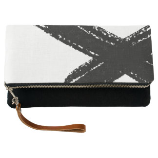 Minimal abstract brush stroke clutch bag