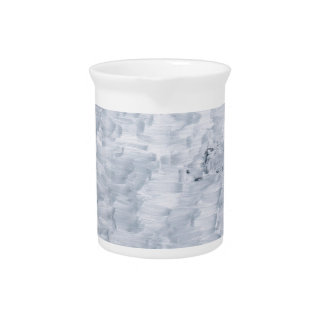 minimal abstract white paint brush texture pattern beverage pitchers