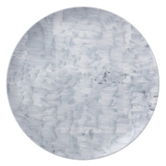 minimal abstract white paint brush texture pattern dinner plate