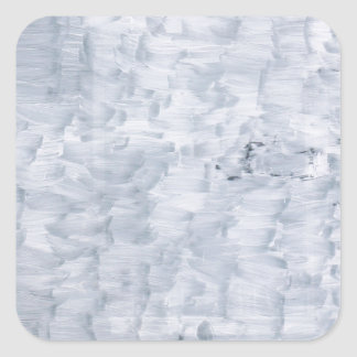 minimal abstract white paint brush texture pattern square sticker