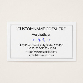 Minimal Aesthetician Business Card