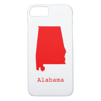 Minimal Alabama United States iPhone 8/7 Case
