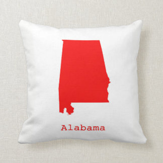 Minimal Alabama United States Throw Pillow