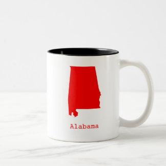 Minimal Alabama United States Two-Tone Coffee Mug