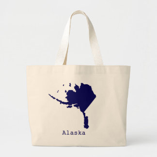 Minimal Alaska United States Large Tote Bag