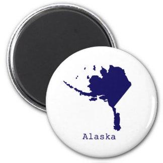 Minimal Alaska United States Magnet