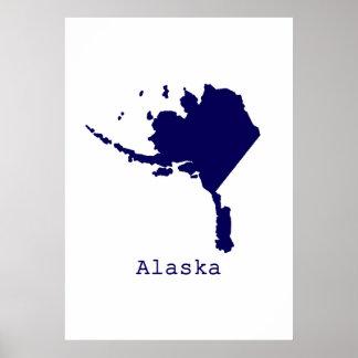 Minimal Alaska United States Poster