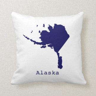 Minimal Alaska United States Throw Pillow