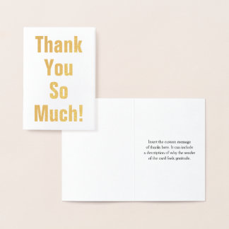 "Minimal and Basic ""Thank You So Much!"" Card"