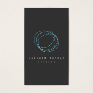 Minimal and Modern Designer Scribble Logo in Blue Business Card
