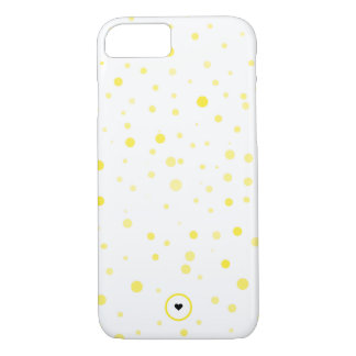 Minimal and modern yellow polka dot iPhone case
