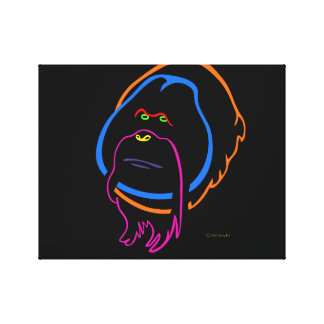 Minimal Art for Sumatran Orangutan Canvas Print