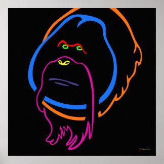 Minimal Art for Sumatran Orangutan Poster