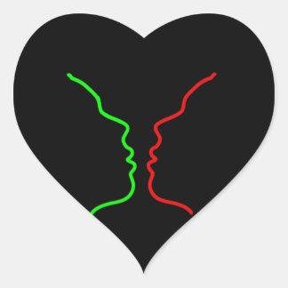 Minimal Art - Sensual MISS, Lets have a KISS Heart Sticker