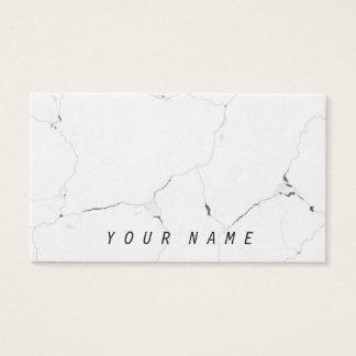 Minimal B&W Cool Marble Sleek Classy Business Card