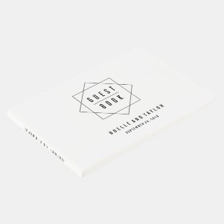 Minimal Badge Photo Wedding Guest Book