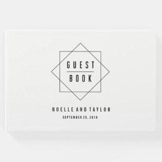 Minimal Badge Photo Wedding Guest Book