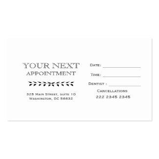 Minimal Basic Hand Drawing Branch Appointment Business Card