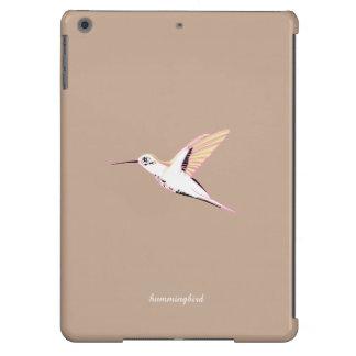 Minimal beige pink hummingbird elegant ipad cover for iPad air