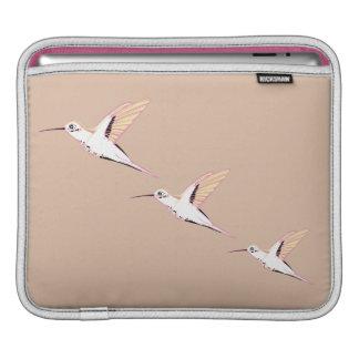 Minimal beige pink hummingbirds smart chic sleeve sleeve for iPads