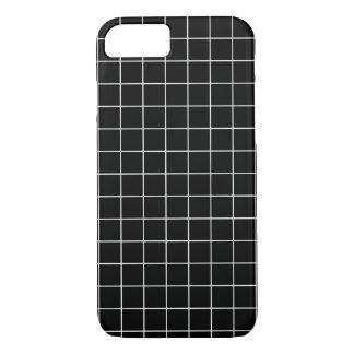 Minimal Black and White Checkbox Pattern Case-Mate iPhone Case