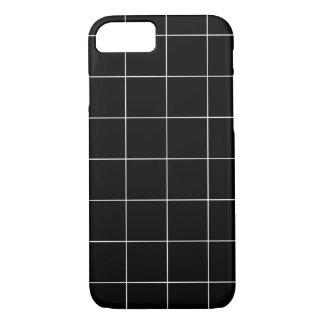 Minimal Black and White Checkbox Pattern iPhone 8/7 Case
