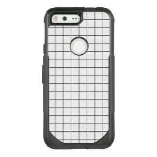 Minimal Black and White Checkbox Pattern OtterBox Commuter Google Pixel Case