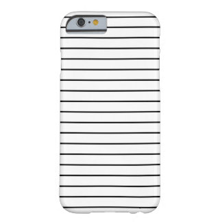 Minimal Black and White Stripes iPhone 6 Case